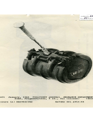 Butterfly Bomb - Image: M83 cluster submunition (closed)