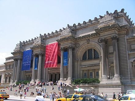 The Metropolitan Museum of Art, part of Museum Mile, is one of the largest museums in the world. MET entrance.jpg