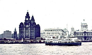 MV Royal Iris - 1972 approaching Princes Landing Stage, Liverpool