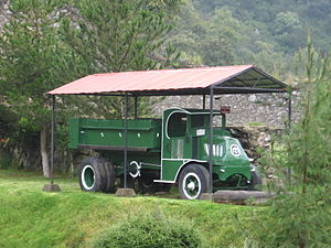 Mack Trucks - Mack truck used to carry ore at the Acosta Mine Museum in Real del Monte, Hidalgo State, Mexico.