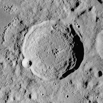 Macrobius (crater) - Apollo 17 mapping camera image