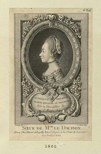 Élisabeth of France (1764–1794) - Élisabeth Philippe Marie Helene de France by Pierre François Léonard Fontaine, c. 1775