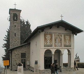 """Giro di Lombardia - Church of """"Madonna del Ghisallo""""."""