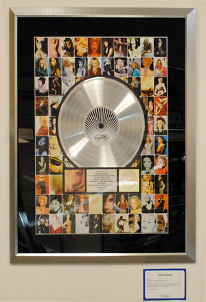 GHV2 - GHV2 platinum record from the RIAA on display at the Julien's Auctions (2011).