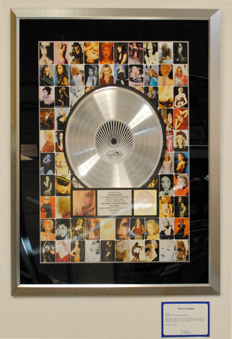RIAA certification - A platinum award for the album GHV2 of Madonna.