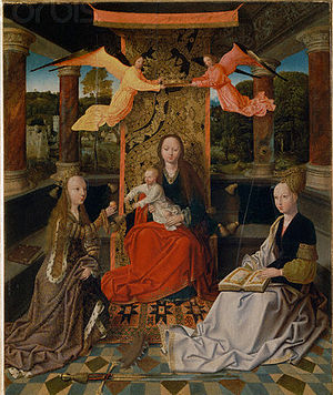 Master of Hoogstraeten - Virgin and Child with Saints