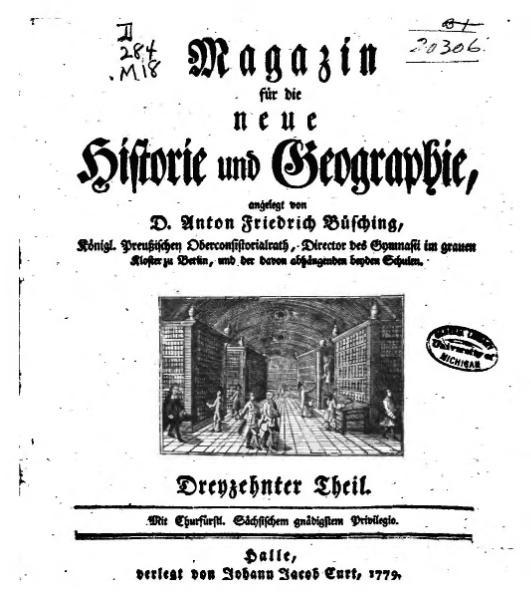 File:Magazin für die neue Historie und Geographie angelegt (1779).djvu