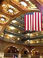 Magnificient US Flag in Lobby of Brown Palace Hotel.JPG