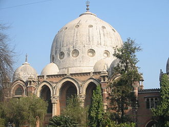 Maharaja Sayajirao University of Baroda - Faculty of Arts Dome, designed by Robert Fellowes Chisholm (1840–1915) in Indo-Saracenic style, modelled on Gol Gumbaz