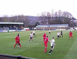 Maidenhead United F.C. - Maidenhead (red shirts) in action against Dover Athletic in 2010