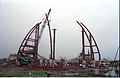 Main Auditorium Under Construction - Convention Centre Complex - Science City - Calcutta 1994-11-03 477.JPG