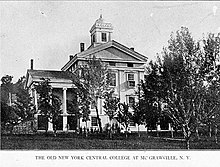 Main building, New York Central College.jpg