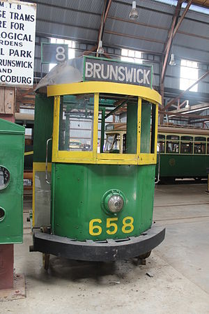 Malcolm (film) - The tram from the film Malcolm, at the Tramway Museum Society of Victoria's site (Tramway Heritage Centre) in Bylands, Victoria.
