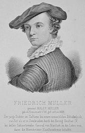 Maler Müller als junger Mann (Quelle: Wikimedia)