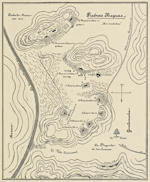 Piedras Negras (Maya site) - Maler's late 19th century map of Piedras Negras