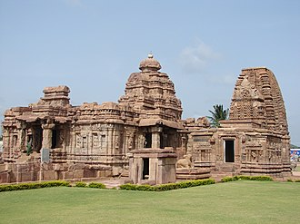 Mallikarjuna temple and Kashi Vishwanatha temple at Pattadakal, built successively by the kings of the Chalukya Empire and Rashtrakuta Empire is a UNESCO World Heritage Site. Mallikarjuna and Kasivisvanatha temples at Pattadakal.jpg