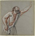 Man Leaning on a Crutch with Left Arm Raised MET 1988.275.jpg