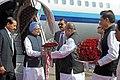 Manmohan Singh being received by the Governor of Maharashtra, Shri K. Sankaranarayanan, on his arrival at Chhatrapati Shivaji International Airport, in Mumbai. The Chief Minister of Maharashtra.jpg