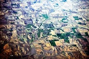 Manning, Iowa - Aerial view of Manning, 2012