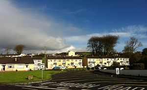Manorcunningham - A row of housing in Manorcunningham.