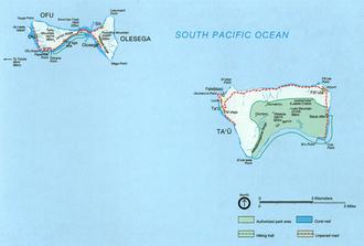 Manu'a - Map of the Manu'a islands.