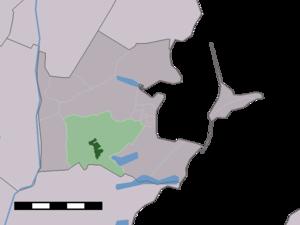 Broek in Waterland - Image: Map NL Waterland Broek in Waterland