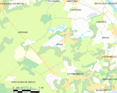 Map commune FR insee code 33012.png