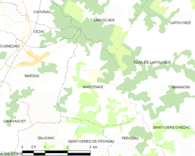 Map commune FR insee code 33266.png