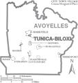 Map of Avoyelles Parish Louisiana With Municipal Labels.PNG