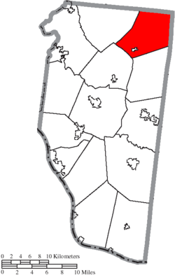 Location of Wayne Township in Clermont County