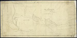 Fort Anderson (North Carolina) - 1865 map of Fort Anderson