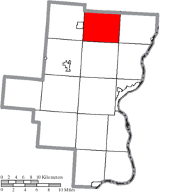Location of Morgan Township in Gallia County