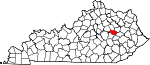 State map highlighting Powell County