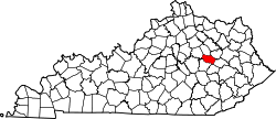 Map of Kentucky highlighting Powell County.svg