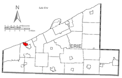 Location of Lake City in Erie County