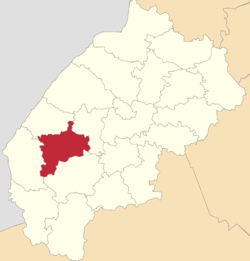 Location of Sambiras rajons