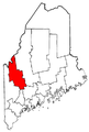 Map of Maine highlighting Franklin County.png