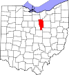 State map highlighting Ashland County
