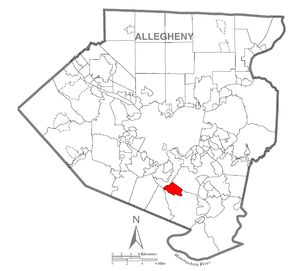 Map of Pleasant Hills, Allegheny County, Pennsylvania Highlighted.png