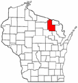 Map of Wisconsin highlighting Forest County.png