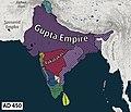 Map of ancient India during Gupta emperor Kumaragupta I's reign.jpg