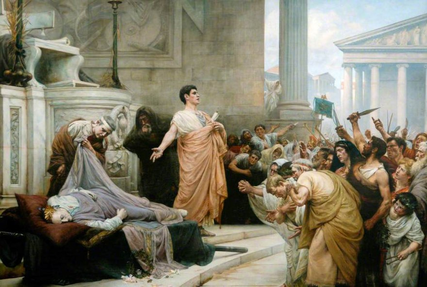 Marc Antony's Oration at Caesar's Funeral by George Edward Robertson Marc Antony's Oration at Caesar's Funeral by George Edward Robertson.jpg