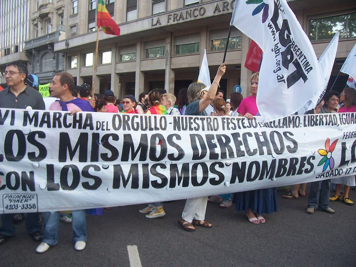 image Desfile glbt por las calles de centro historico