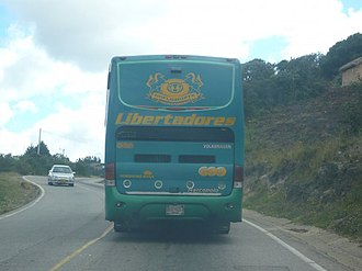 Volkswagen Volksbus - Volksbus 18.310 OT with a Marcopolo body on a Colombian way