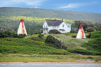 Leading lights - Image: Margaree Harbour Range Lights