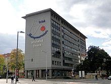 """Der Hauptsitz von Newtron im Dresdner """"Margon-Haus"""". Abb.: Paulae, Wikipedia"""
