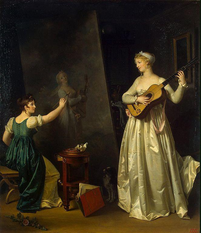 File:Marguerite Gérard - Painter when painting a portrait of a ...