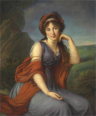 Portrait - Late 18th Century portrait by Elisabeth Vigée-Lebrun
