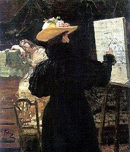 Maria Tenisheva at work by I.Repin (1897, Erevan).jpg