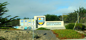 Marina, California - City of Marina welcome sign